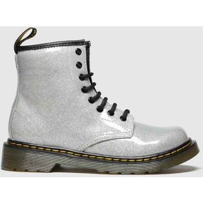 Dr Martens Silver 1460 Glitter Boots Junior