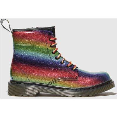 Dr Martens Green & Red 1460 Glitter Boots Junior