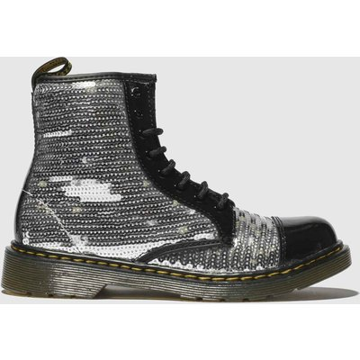 Dr Martens Silver 1460 Pooch Sequin Boots Youth