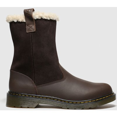 Dr Martens Dark Brown Juney Boots Youth