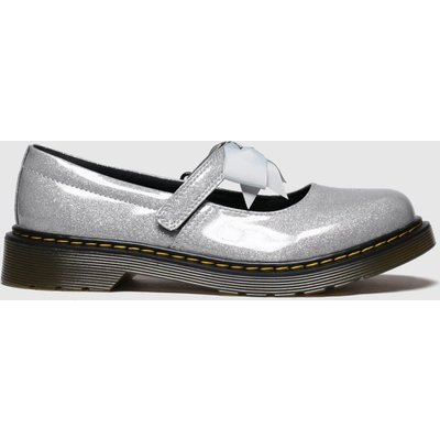 Dr Martens Silver Maccy Ii Glitter Shoes Youth