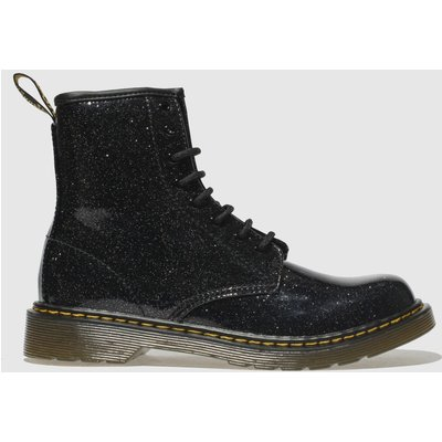 Dr Martens Black & Silver 1460 Glitter Boots Youth