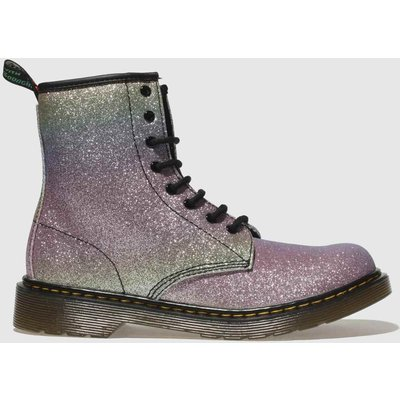 Dr Martens Pink & Lilac 1460 Glitter Boots Youth