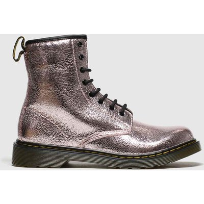 Dr Martens Pink 1460 Crinkle Metallic Boots Youth