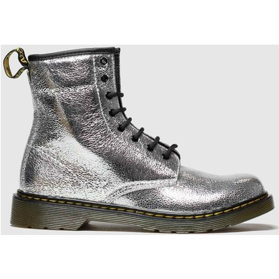 Dr Martens Silver 1460 Crinkle Metallic Boots Youth