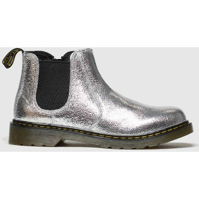 Dr Martens Silver 2976 Crinkle Metallic Boots Youth