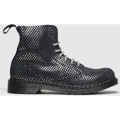 Dr Martens Black & Silver 1460 Pascal Silver Stars Boots Youth