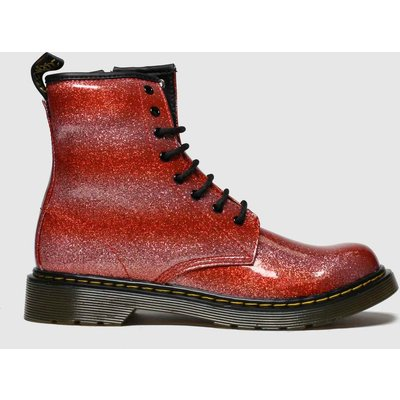 Dr Martens Red 1460 Glitter Boots Youth