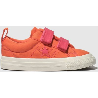 Converse Orange One Star 2v Lo Trainers Toddler