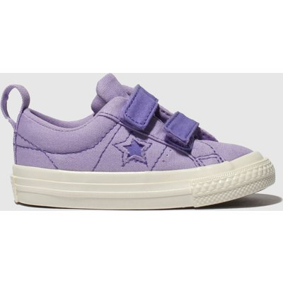 Converse Lilac One Star 2v Lo Trainers Toddler