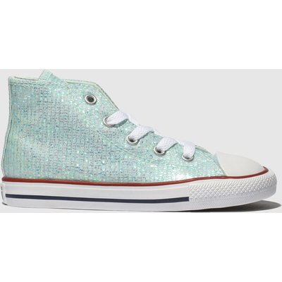 Converse Pale Blue Chuck Taylor All Star Hi Trainers Toddler