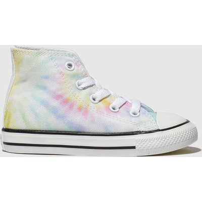Converse Blue & Yellow All Star Hi Tie Dye Trainers Toddler