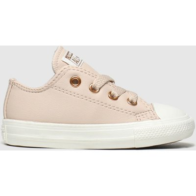 Converse Pale Pink Chuck Taylor All Star Lo Trainers Toddler