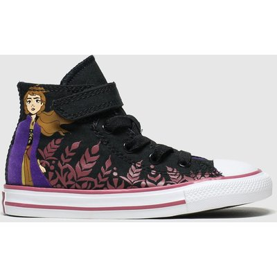 Converse Black & Purple All Star 1v Hi Anna X Frozen Trainers Toddler