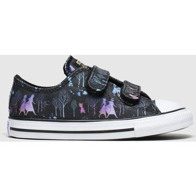 Converse Black & Purple All Star 2v Lo X Frozen Trainers Toddler