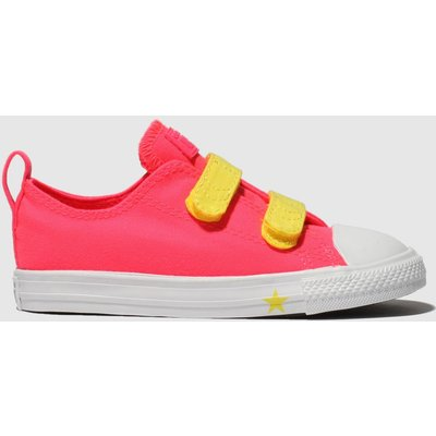 Converse Pink Chuck Taylor All Star 2v Lo Trainers Toddler