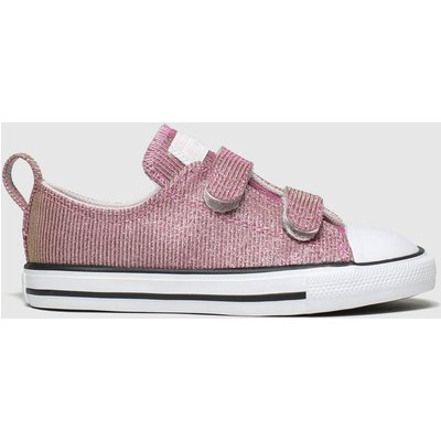 Converse Pink All Star 2v Lo Space Star Trainers Toddler