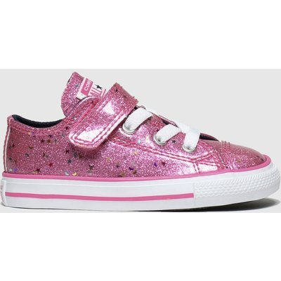 Converse Pink All Star 1v Lo Glimmer Trainers Toddler