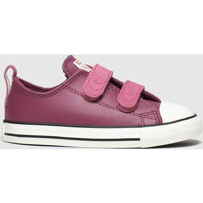 Converse Burgundy All Star 2v Lo Mission Trainers Toddler
