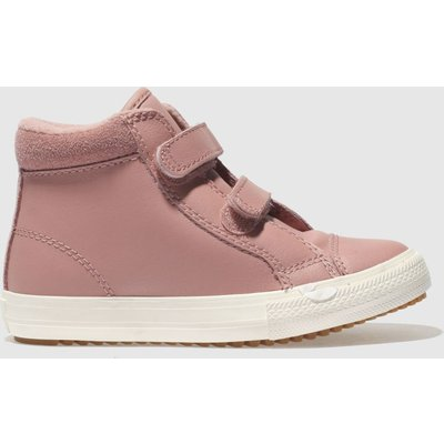 Converse Pink All Star Hi 2v Pc Trainers Toddler