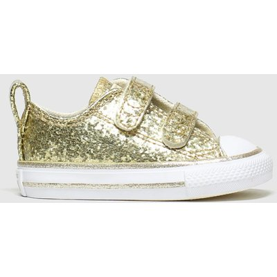 Converse Gold All Star 2v Lo Glitter Trainers Toddler