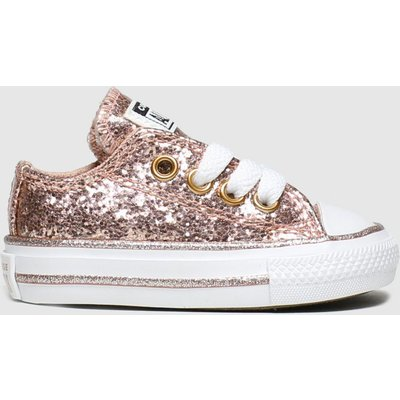 Converse Pink All Star Lo Glitter Trainers Toddler