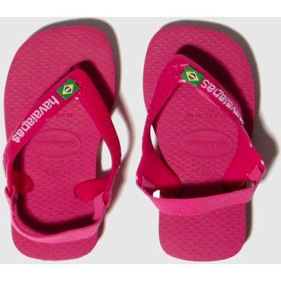 Havaianas Pink Brasil Logo Sandals Toddler