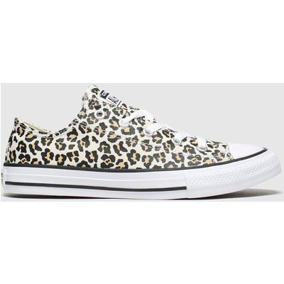 Converse Black & Brown All Star Lo Leopard Trainers Junior