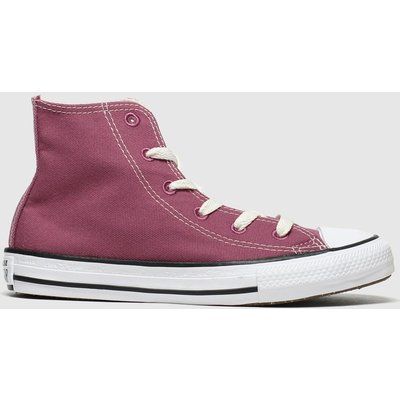 Converse Burgundy All Star Hi Renew Trainers Junior