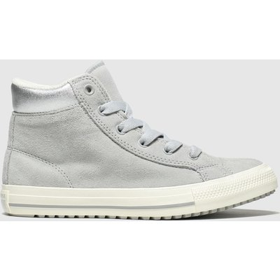 Converse Grey All Star Hi Pc Boot Trainers Junior