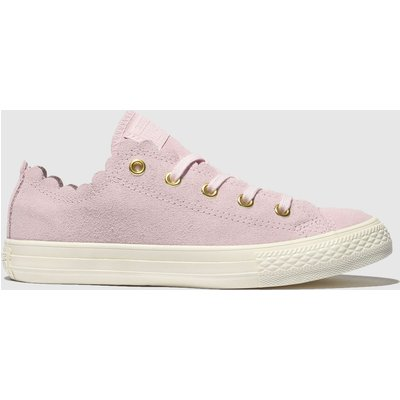 Converse Pink All Star Lo Frilly Thrills Trainers Junior