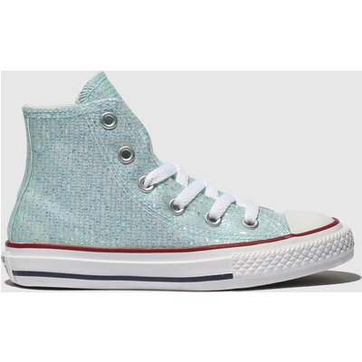 Converse Pale Blue All Star Hi Trainers Junior