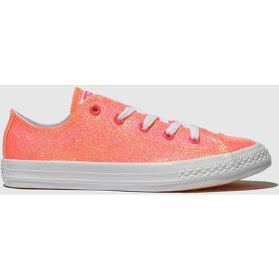 Converse Pink Chuck Taylor All Star Lo Trainers Junior