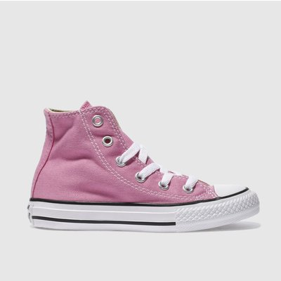 Converse Pink All Star Hi Trainers Junior