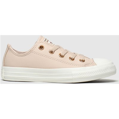 Converse Pale Pink Chuck Taylor All Star Lo Trainers Junior