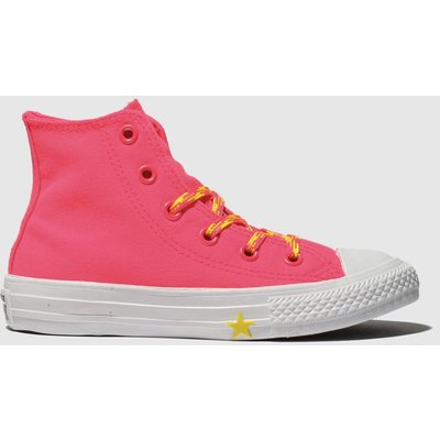 Converse Pink Chuck Taylor All Star Hi Trainers Junior