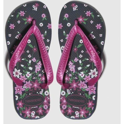 Havaianas Black & Pink Flores Sandals Junior