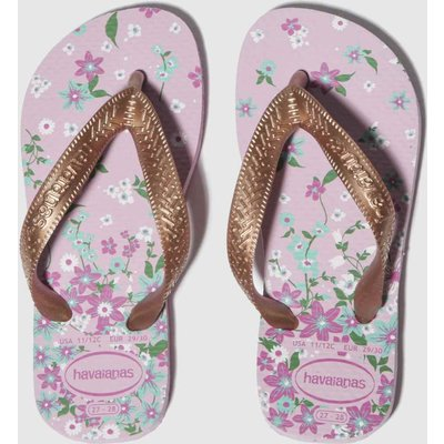 Havaianas Pink & Gold Flores Sandals Junior