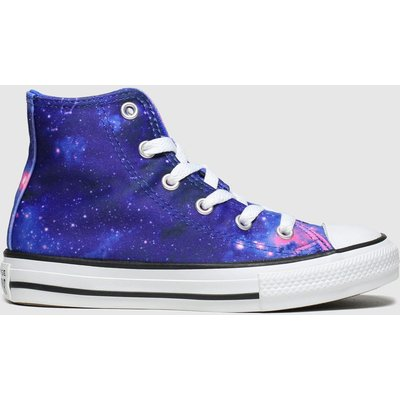Converse Blue All Star Hi Miss Galaxy Trainers Junior