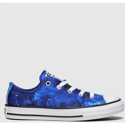 Converse Blue All Star Lo Miss Galaxy Trainers Junior
