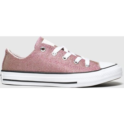 Converse Pink All Star Lo Space Star Trainers Junior