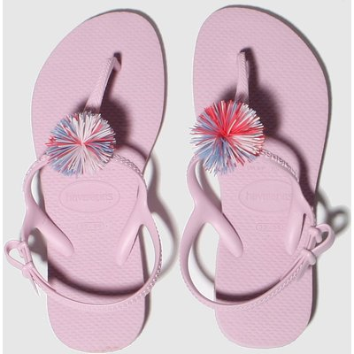 Havaianas Pale Pink Freedom Pompom Sandals Junior
