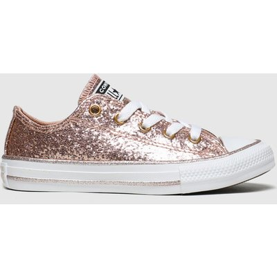 Converse Pink All Star Lo Glitter Trainers Junior