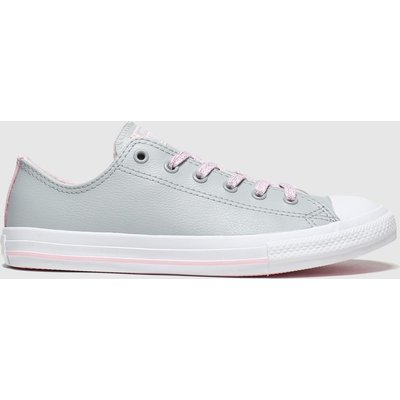 Converse Light Grey All Star Sparkle Lace Lo Trainers Youth