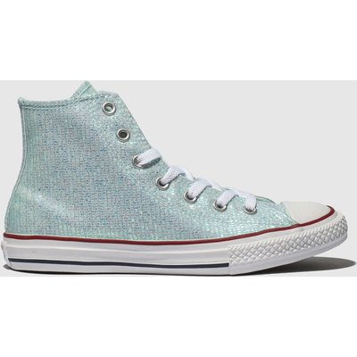 Converse Pale Blue All Star Hi Trainers Youth