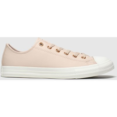 Converse Pale Pink Chuck Taylor All Star Lo Trainers Youth