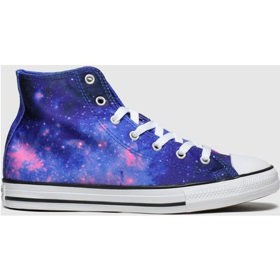 Converse Blue All Star Hi Miss Galaxy Trainers Youth