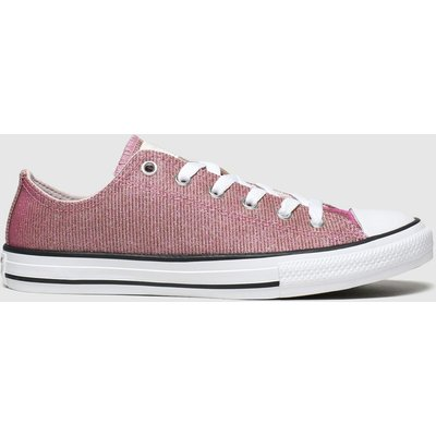 Converse Pink All Star Lo Space Star Trainers Youth