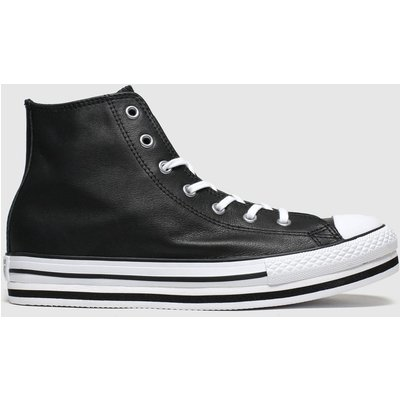 Converse Black All Star Hi Platform Eva Trainers Youth