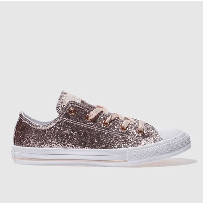 Converse Pink All Star Ox Glitter Trainers Youth